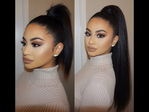 SLICK BACK PONY TAIL USING CLIP-IN HAIR EXTENSIONS | MAKEUPSOLEIL