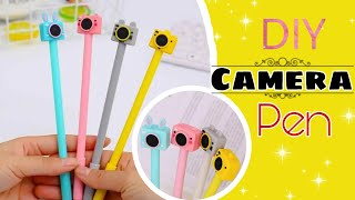 DIY Handmade cute Camera Pen • How to make camera pen without plastic • Pen decoration ideas