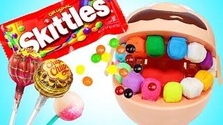 Мистер Зубастик объелся конфет у Доктора Стоматолога Лечит Зубы. Плей До Игрушки для девочек