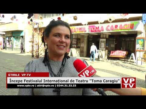 """Începe Festivalul Internațional de Teatru """"Toma Caragiu"""""""