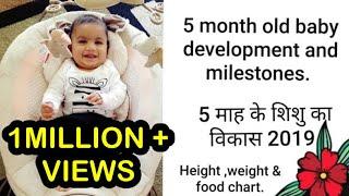 5 month old baby development & activities.