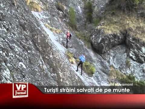 Turişti străini salvaţi de pe munte