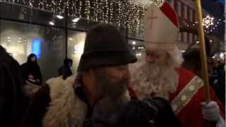 preview picture of video 'Nikolaus mit Perchten, unterwegs in Linz'