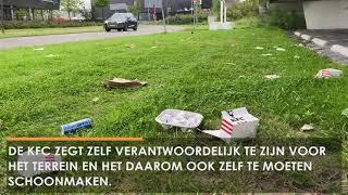 Elke dag afvalhoop bij KFC Waalwijk