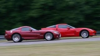 Round The Track With Vettes n Vipers Video