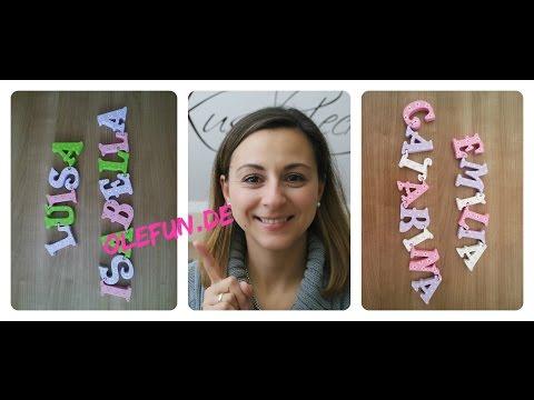 Unsere neuen Holzbuchstaben | Olefun | Sofias Mommy Blog