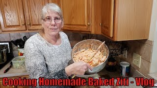 Cooking Homemade Baked Ziti (With Mom) -  Vlog
