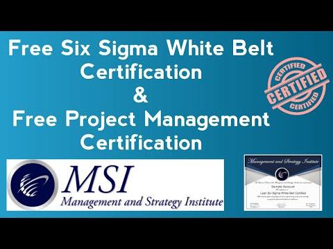 Free Six Sigma White Belt Certification | Free Project Management ...