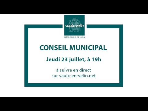 Conseil Municipal – jeudi 23 juillet 2020