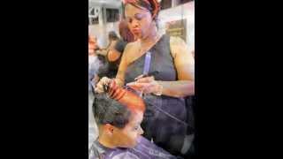 Fantasia inspired short haircut | Black women short hairstyles |Black Hair Salon Houston/Pearland