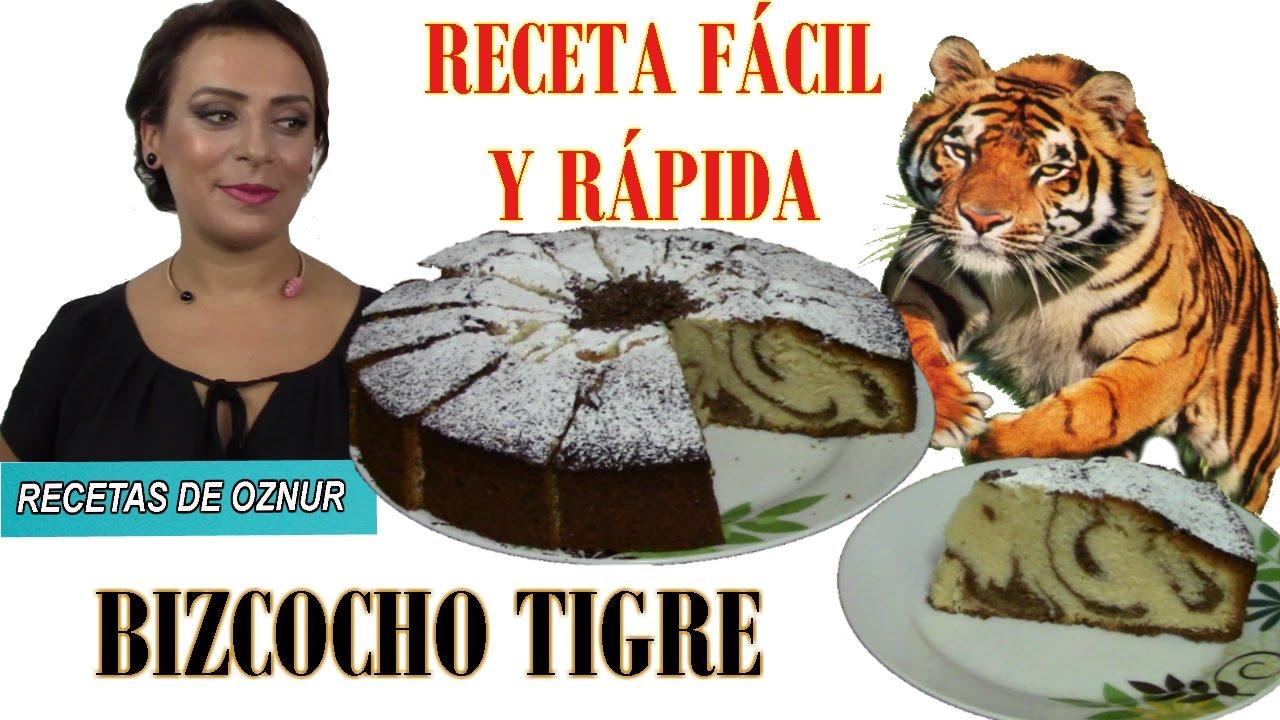 Bizcocho TIGRE | postres faciles bizcochos ricos y económicos de hacer Recetas baratas