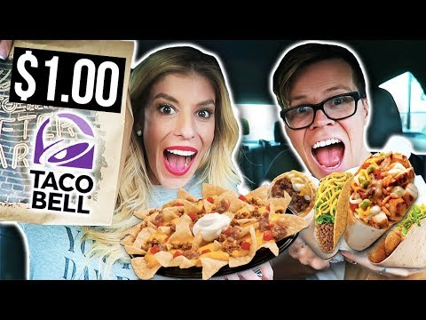 $1.00 Taco Bell Challenge! Trying Every Item on the Taco Bell Dollar Cravings Menu
