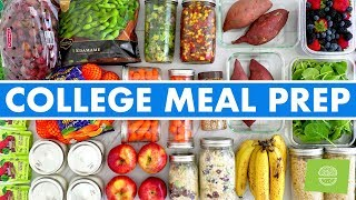 Healthy College Meal Prep! No Oven—Microwave only!
