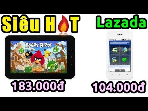 Cực SỐC - Hướng dẫn săn hàng 6k Lazada đêm nay (smartphone 104k, máy tính bảng 183k...)