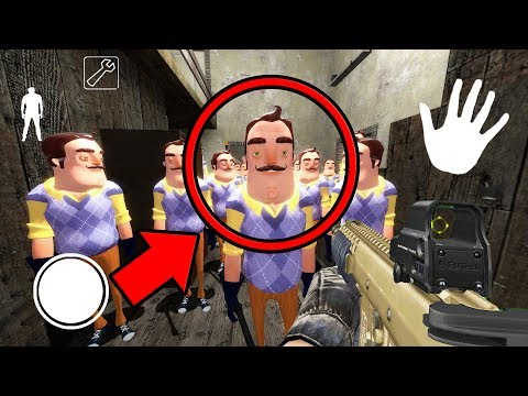 How to Defeat the HELLO NEIGHBOR ARMY in Granny Horror Game... (Hello Neighbor vs Granny) (видео)