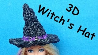 Rainbow Loom Witch Hat Charms (Halloween) For Barbie Dolls (Loom Bands, DIY Mommy)