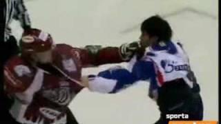 KHL. Dinamo Riga - SKA fight