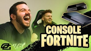 COURAGE AND MANIAC TRY CONSOLE FORTNITE!!! (OpTicPlays)