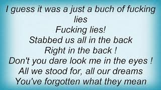 Youth Of Today - Stabbed In The Back Lyrics