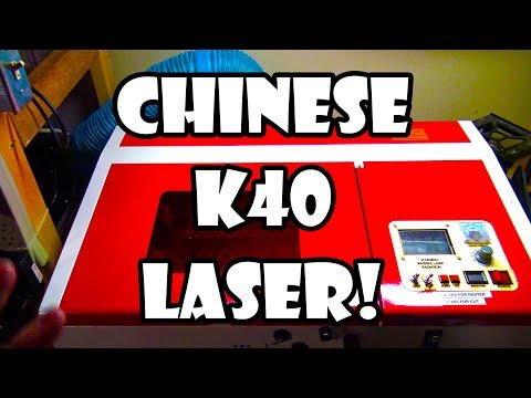 Modded Smoothieware Chinese K40 Laser Cutter Overview