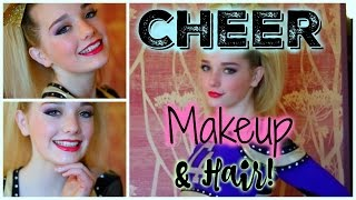 CHEER MAKEUP & HAIR TUTORIAL! | Avrey Ovard