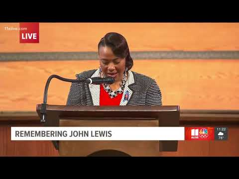 Bernice King prays for more good trouble at John Lewis' funeral