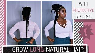 Natural Hair | How To Grow LONG Natural Hair Using PROTECTIVE STYLES | Obaa Yaa Jones