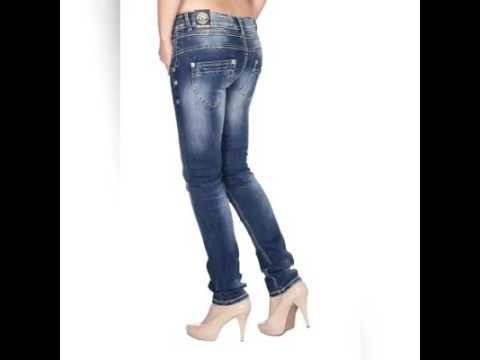 BLUE MONKEY Damen Skinny Jeans mit hohem Bund Kathrin 5084