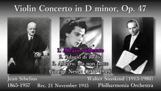 Sibelius: Violin Concerto, Neveu & Süsskind (1945) シベリウス ヴァイオリン協奏曲 ヌヴー