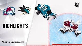 NHL Highlights | Avalanche @ Sharks 03/08/20