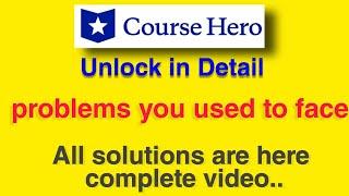 course hero unlock free complete video easy way