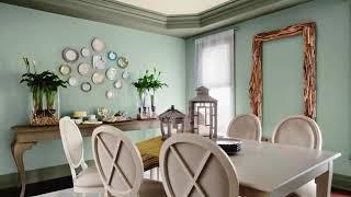 Greenish Blue Formal Dining Room Ideas