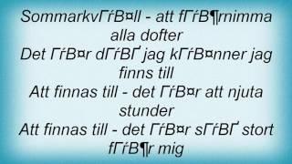 Abba - Att Finnas Till Lyrics