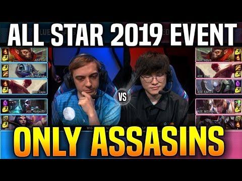 5vs5 ASSASINS MODE Highlights ( Faker & Redmercy vs Caps & Midbeast ) - All Star 2019 Day 2