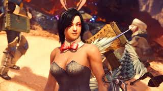 Bunny girl Outfit Barroth Cutscene