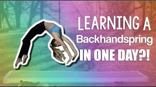 Learning a backhandspring IN ONE DAY?!