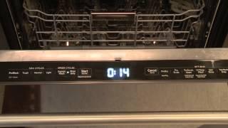 KitchenAid Dishwasher Touchpad Instructions