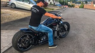 Harley-Davidson FXSB Breakout Sound 🇬🇧Barry From UK🇬🇧