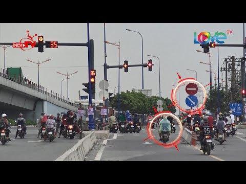 Vô tư vi phạm luật giao thông - thậm chí thái độ thách thức tại đường song hành Xa lộ Hà Nội