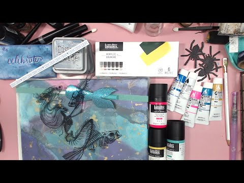 PLAYING WITH GOUACHE & DISTRESS OXIDES~ART JOURNAL PAGE