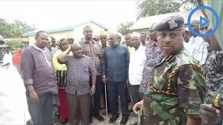 County Commissioner Kibaara at the Wajir Referral Hospital mortuary