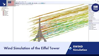 Wind Simulation of the Eiffel Tower