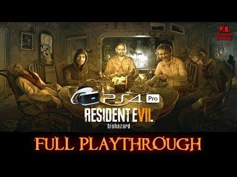 Resident Evil 7 | PSVR + PS4Pro | Full Playthrough | Gameplay Walkthrough No Commentary 1080P