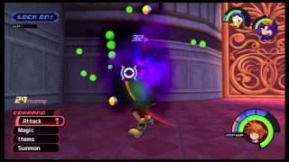 Kingdom Hearts 1 HD English Walkthrough: Library Puzzle & Malifecent Boss Fight (Human Form)