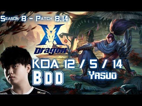Cách chơi Yasuo AD mùa 8 lên đồ của BDD gánh team mạnh nhất 2018