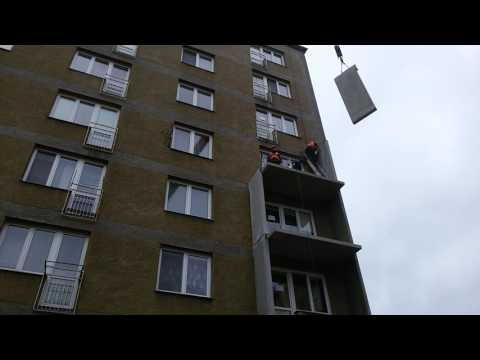 Montáž nových lodžií na bytovém domě ve Frýdku – Místku