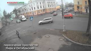 ДТП на перекрёстке проспектов Мира и Октябрьского,