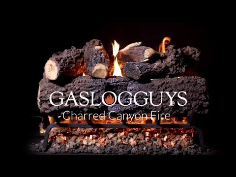 GasLogsGuys Canyon Fire Charred Oak Vented Gas Log Set