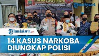 Polres Metro Jawa Barat Berhasil Mengungkap 14 Kasus Narkoba
