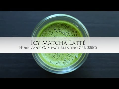 Icy Matcha Latte using the Hurricane Compact Blender (CPB-380C)